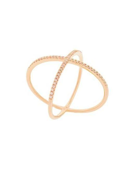 Bony Levy   Metallic Crossover Diamond Ring (nordstrom Exclusive)   Lyst