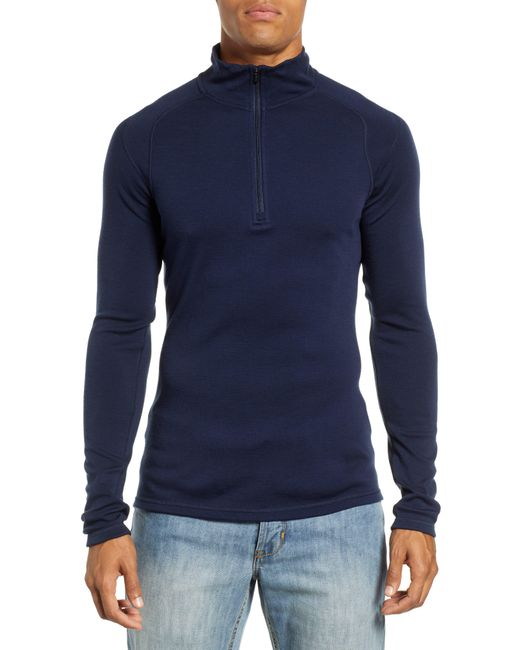 Smartwool Blue Merino 250 Base Layer Quarter Zip Pullover for men