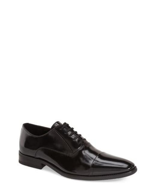 Calvin Klein | Black 'radley Box' Cap Toe Oxford for Men | Lyst
