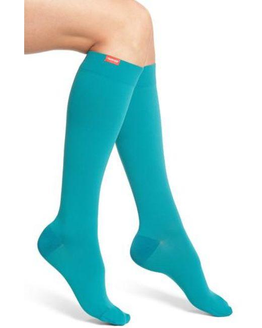 VIM & VIGR | Blue Solid Graduated Compression Trouser Socks | Lyst