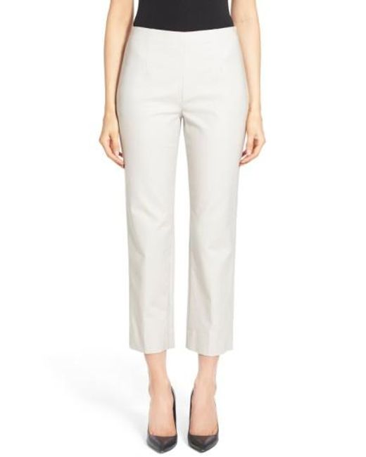 NIC+ZOE | Natural 'perfect' Side Zip Ankle Pants | Lyst