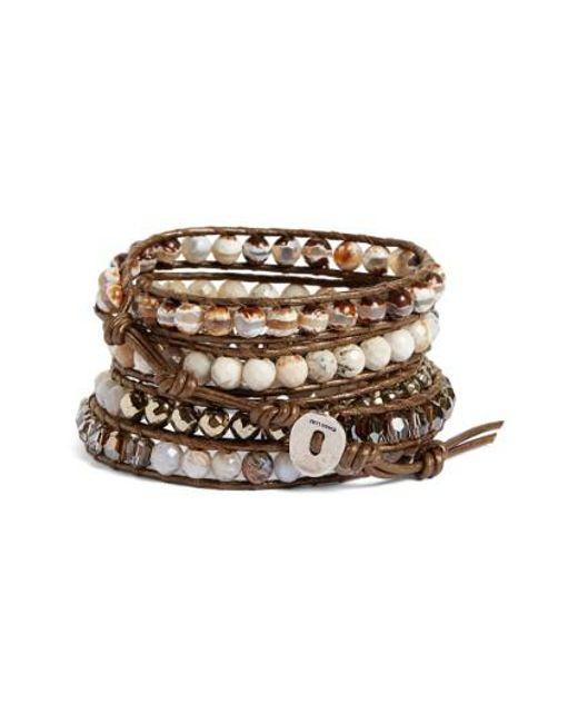 Chan Luu | Metallic Semiprecious Stone Wrap Bracelet | Lyst