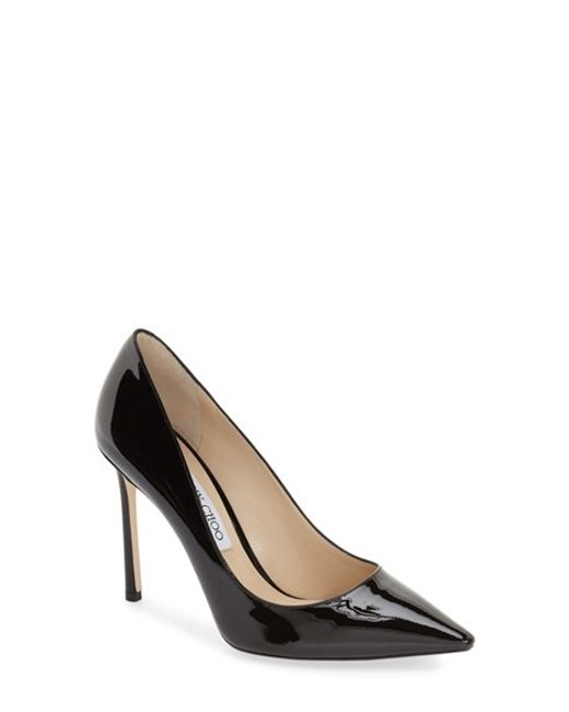 Jimmy Choo | Black Romy 100 Patent Leather Pumps | Lyst