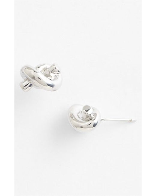 Kate Spade | Metallic 'sailors Knot' Mini Stud Earrings | Lyst