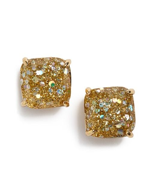Kate Spade | Metallic Mini Small Square Stud Earrings | Lyst