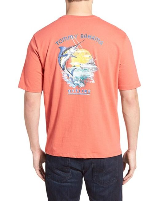 Tommy Bahama 39 Offline 39 Graphic T Shirt In Red For Men