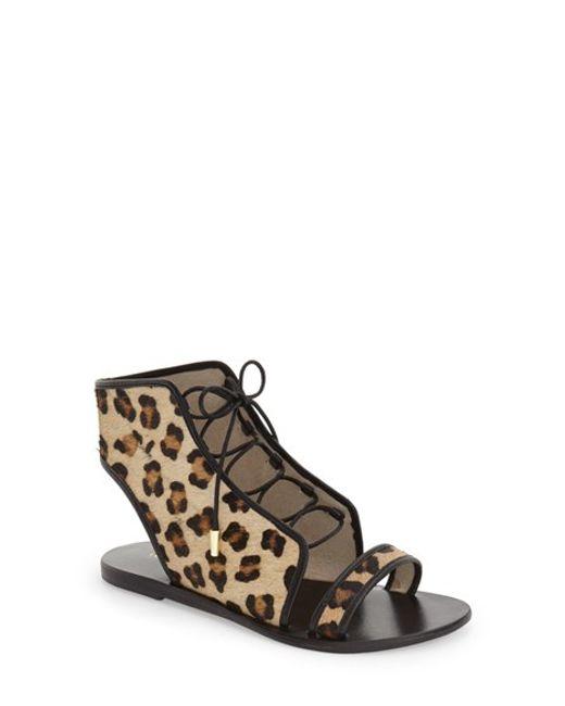 Urge Footwear Vivid Cage Flat Sandal In Animal Leopard