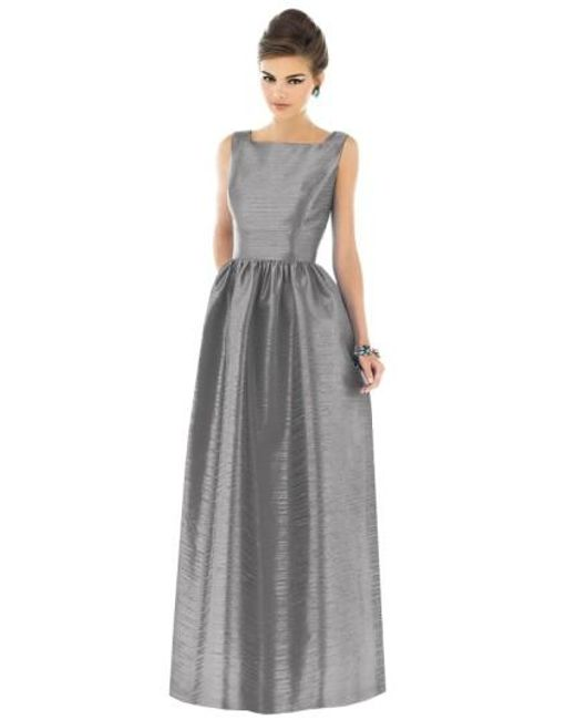 Alfred Sung | Gray Dupioni A-Line Gown | Lyst