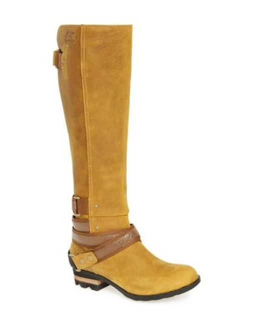 Sorel | Yellow Lolla Water Resistant Tall Boot | Lyst