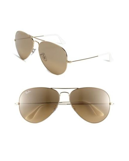 Ray-Ban   Metallic Large Original 62mm Aviator Sunglasses   Lyst