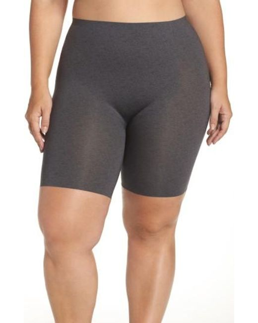 Spanx | Gray Spanx 'thinstincts' Mid Thigh Shaper | Lyst