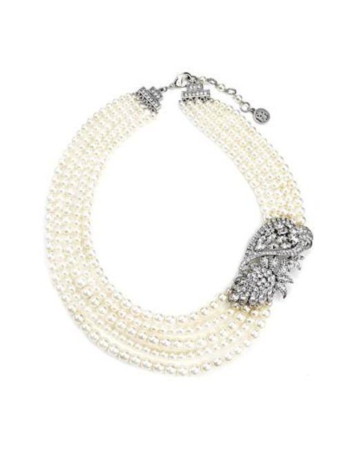 Ben-Amun   White Faux Pearl Statement Necklace   Lyst