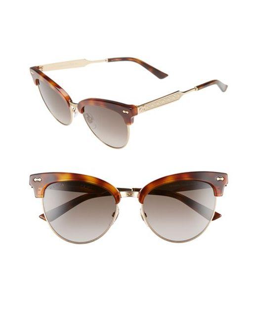 0f5403802d Gucci 55mm Retro Sunglasses - Dark Havana  Gold in Brown