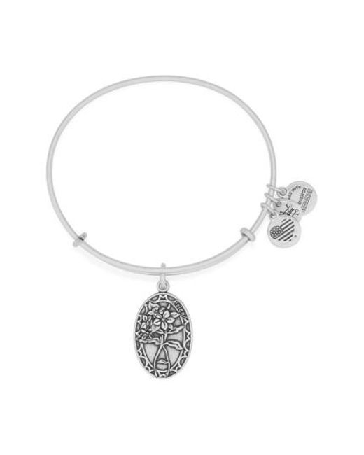 ALEX AND ANI | Gray 'i Love You Friend' Expandable Wire Bangle | Lyst