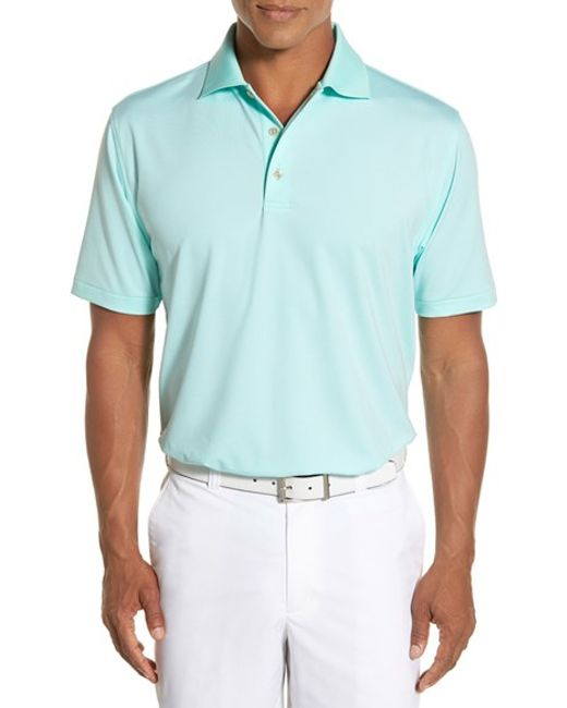 Peter millar 39 nena 39 stripe stretch microfiber golf polo in for Peter millar women s golf shirts