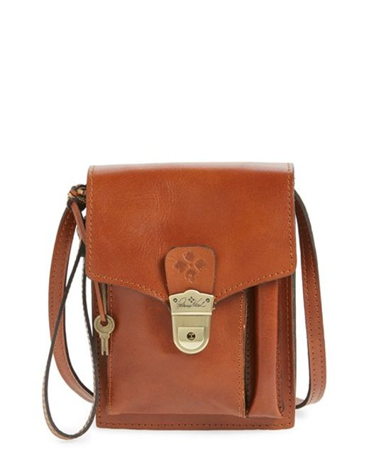 Patricia Nash Montoro Convertible Leather Cross Body Bag