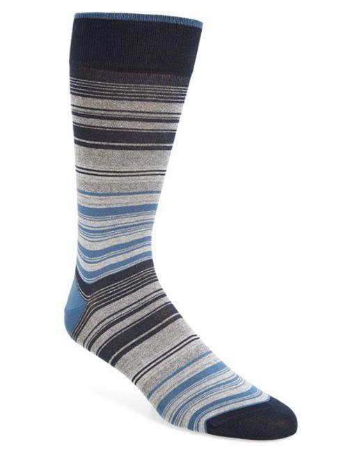 Bugatchi | Gray Mercerized Cotton Blend Socks for Men | Lyst