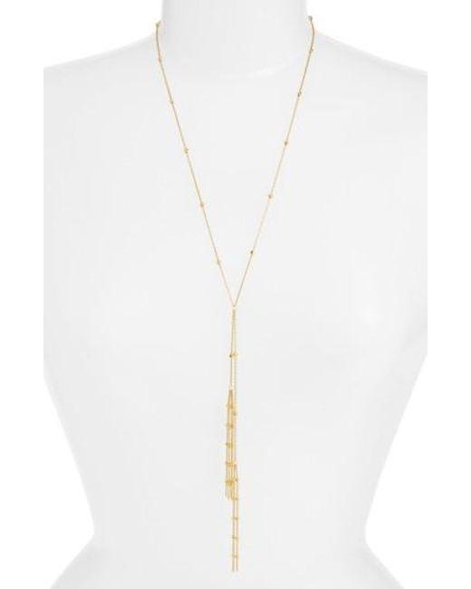 Argento Vivo | Metallic Tassel Y-necklace | Lyst