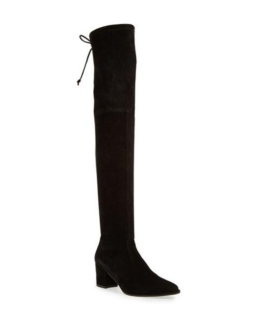 stuart weitzman thighland the knee boot in black lyst