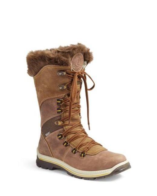Santana Canada | Brown 'Morella' Water Resistant Faux-Fur Boot | Lyst