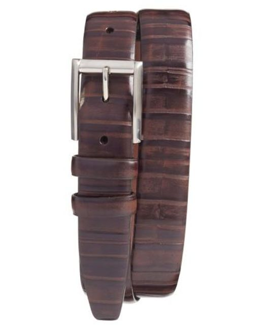 Torino Leather Company | Brown Ribbed Kipskin Leather Belt for Men | Lyst