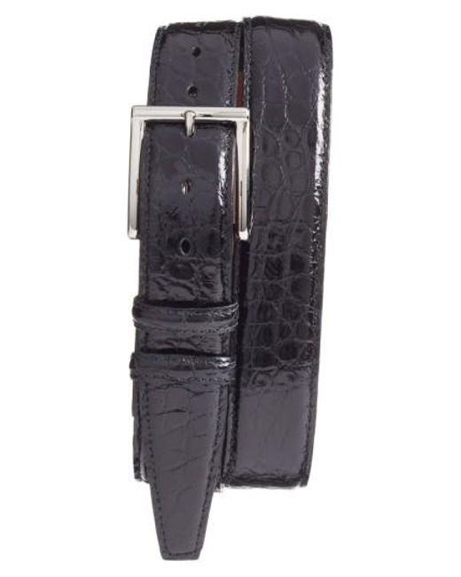 Torino Leather Company | Black Genuine American Alligator Leather Belt for Men | Lyst
