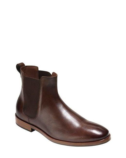 Cole Haan | Black Warren Waterproof Leather Chelsea Boot for Men | Lyst