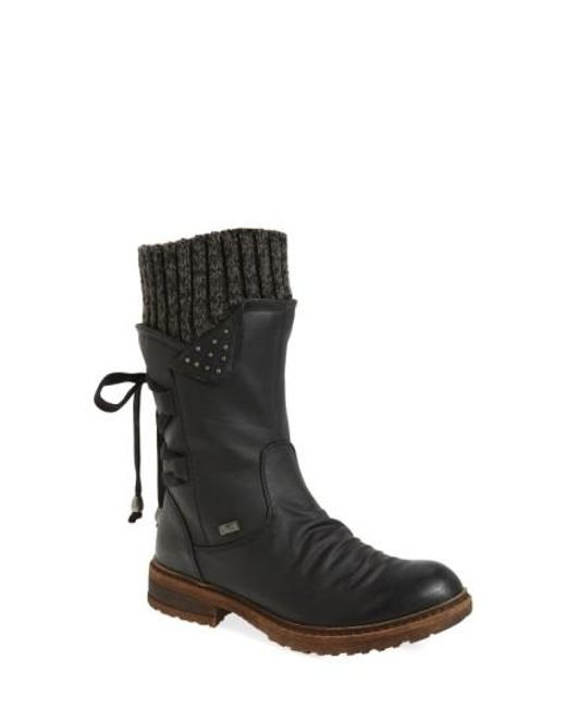 Rieker Antistress | Black Dominika 73 Water Resistant Boot | Lyst