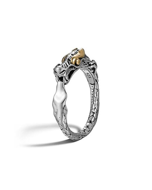 John Hardy | Metallic 'legends' Slim Dragon Ring | Lyst