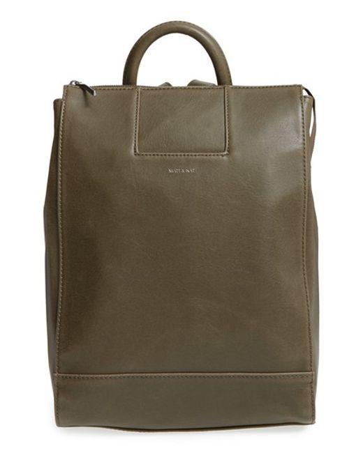 Matt & Nat | Green 'katherine' Faux Leather Backpack | Lyst