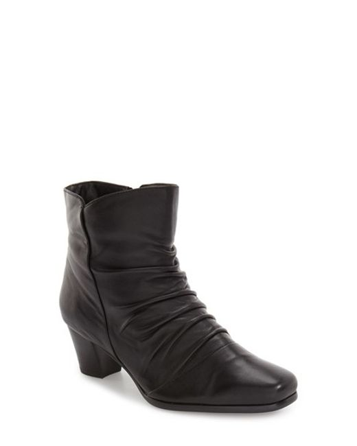 David Tate | Black 'nora' Slouchy Bootie | Lyst