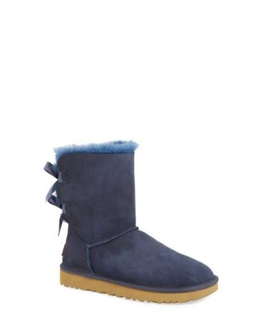 Ugg | Blue Ugg 'bailey Bow Ii' Boot | Lyst