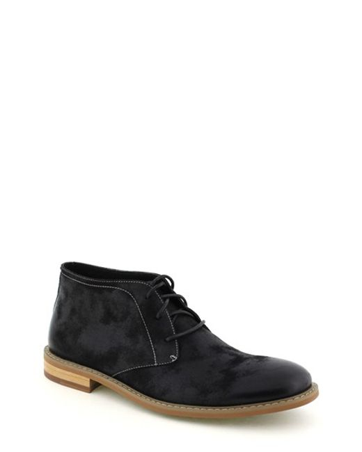 deer stags seattle chukka boot in black for lyst