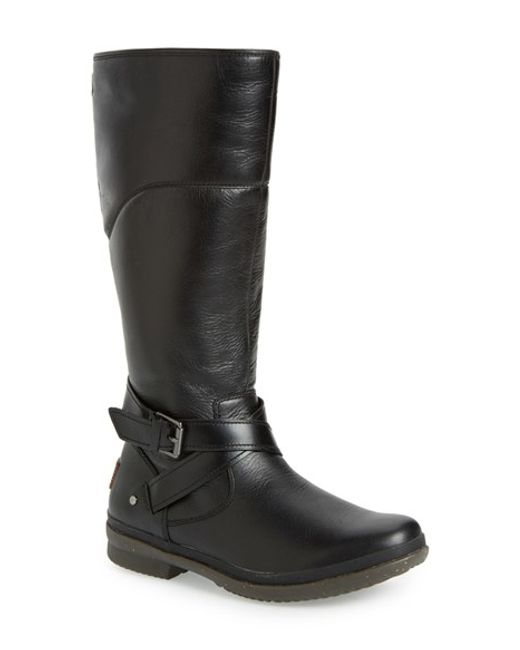ugg riding boots black