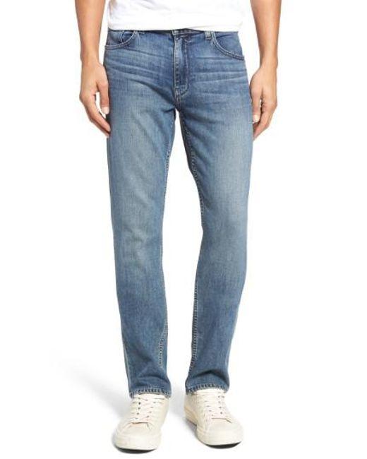 PAIGE | Blue Normandie Straight Leg Jeans for Men | Lyst