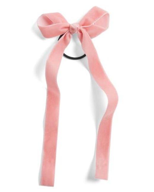 Cara | Pink Velvet Bow Hair Band | Lyst