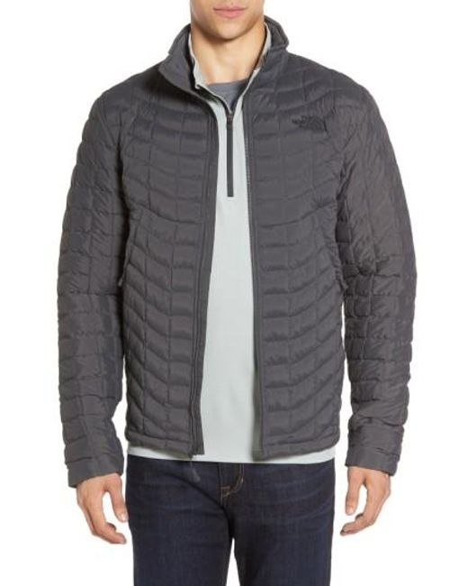 The North Face | Gray Packable Stretch Thermoball(tm) Primaloft Jacket, Grey for Men | Lyst