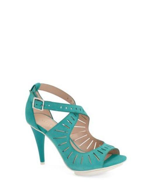 Pelle Moda | Blue 'menlo' Cutout Sandal | Lyst