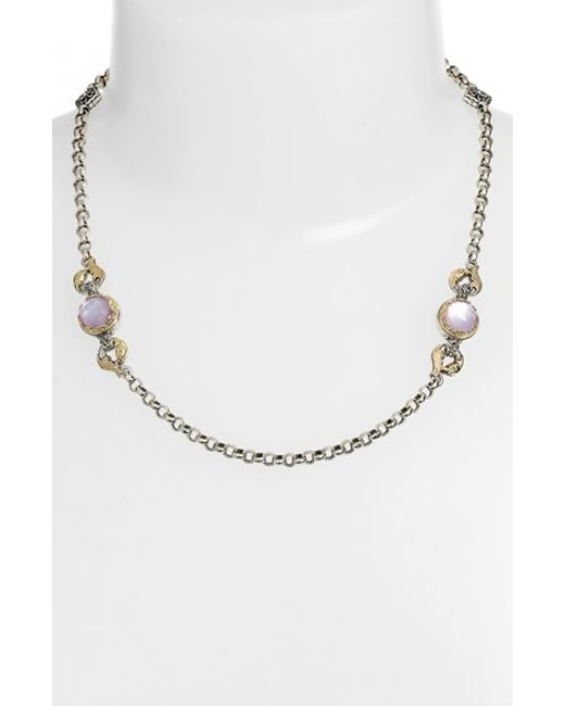 Konstantino | Metallic 'iliada' Semiprecious Stone Necklace | Lyst