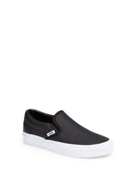 Vans - Black 'Classic' Perforated Slip-On Sneaker  - Lyst