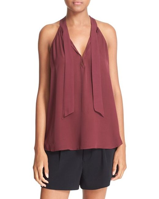 Joie Sleeveless Silk Turtleneck Blouse 109