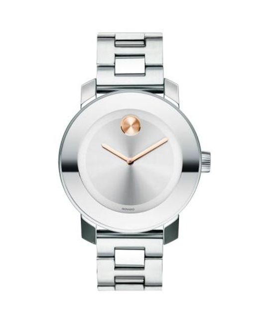 Movado   Metallic 'bold' Round Bracelet Watch   Lyst
