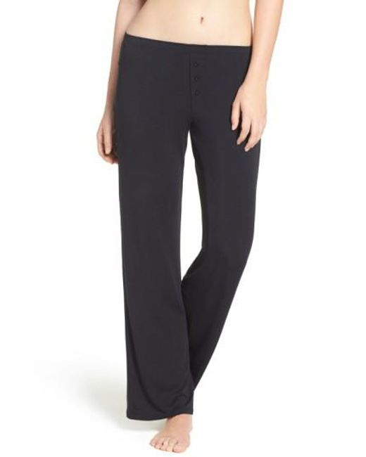 Pj Salvage   Black Jersey Pajama Pants   Lyst
