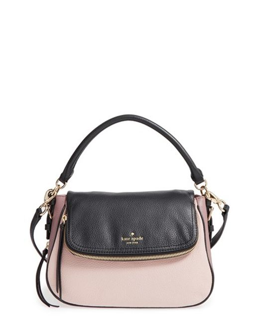 Kate Spade | Black 'cobble Hill - Deva' Leather Crossbody Bag | Lyst