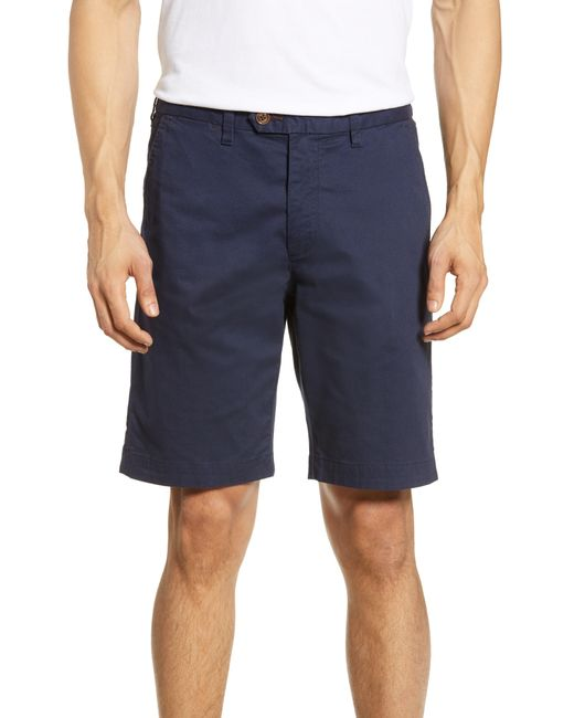 Ted Baker Blue Shorlid Slim Fit Geo Print Chino Shorts for men