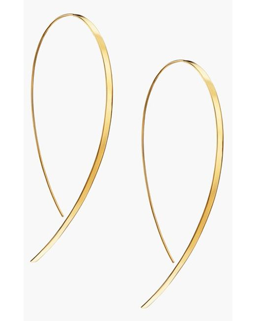 Lana Jewelry | Yellow 'hooked On Hoop' Large Flat Earrings | Lyst