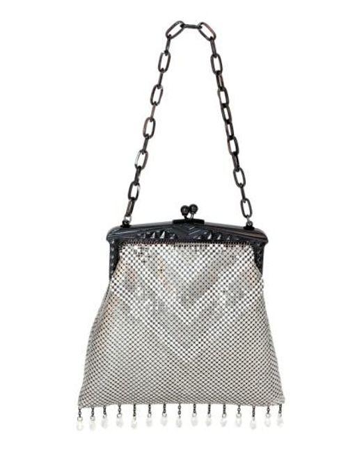 Whiting & Davis | Black 'Heritage - Deco' Mesh Handbag - Metallic | Lyst