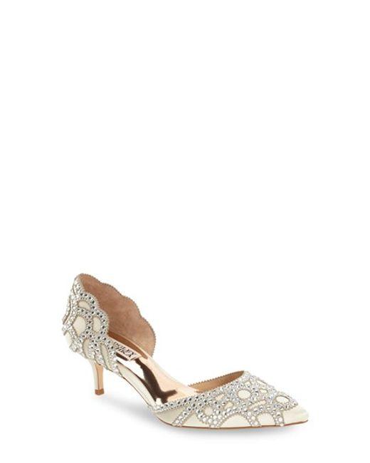 Bridal Shoes At Nordstrom: Badgley Mischka 'ginny' Embellished D'orsay Pump