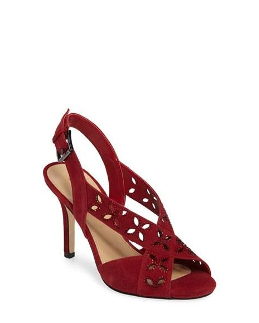 Michael Michael Kors Becky Floral Sandal In Red Save 25