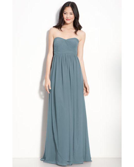 Jenny Yoo | Blue 'aidan' Convertible Strapless Chiffon Gown | Lyst